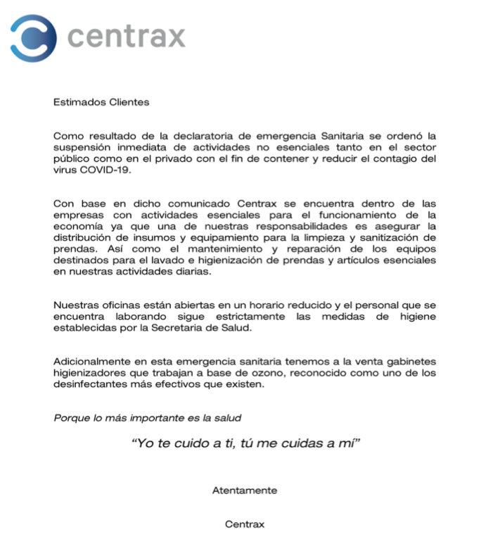 Aviso Centrax